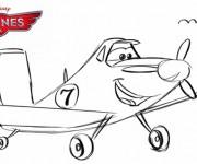 Coloriage dessin  Planes Dusty 10