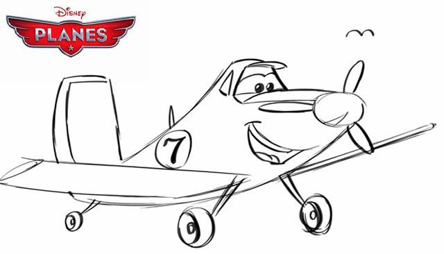 Coloriage et dessins gratuits Planes Dusty au crayon à imprimer