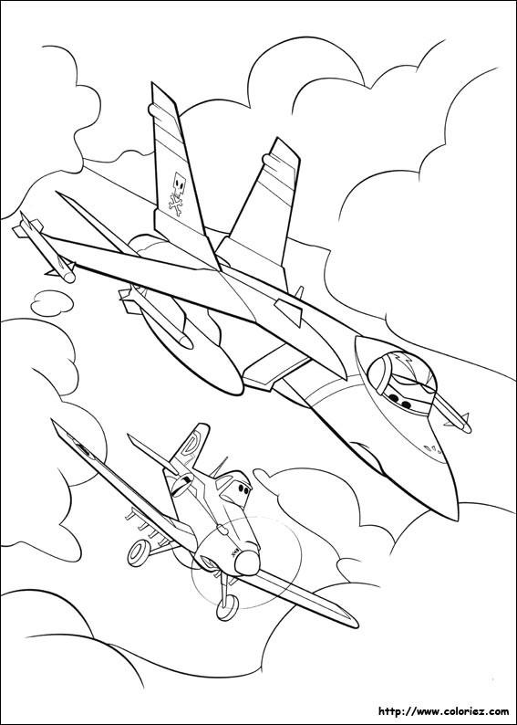 Coloriage et dessins gratuits Planes Dusty en course à imprimer