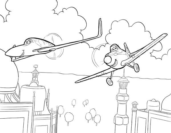 Coloriage et dessins gratuits Planes Dusty en Inde à imprimer
