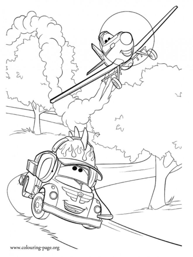 Coloriage et dessins gratuits Planes Dusty en mission à imprimer