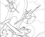 Coloriage Planes Dusty en poursuite