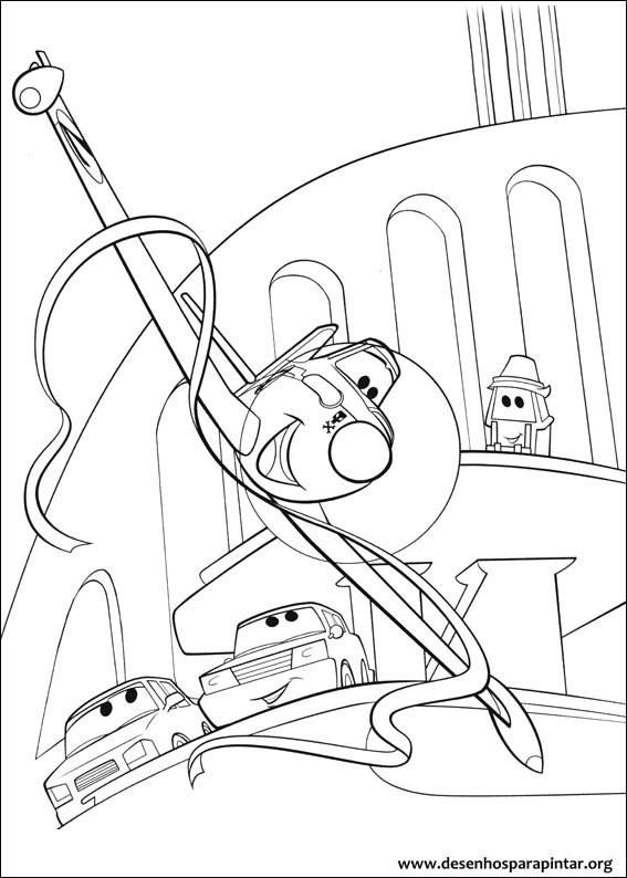 Coloriage et dessins gratuits Planes Dusty fait Le Show à imprimer
