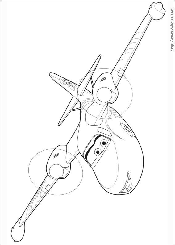 Coloriage et dessins gratuits Planes Dusty magique à imprimer