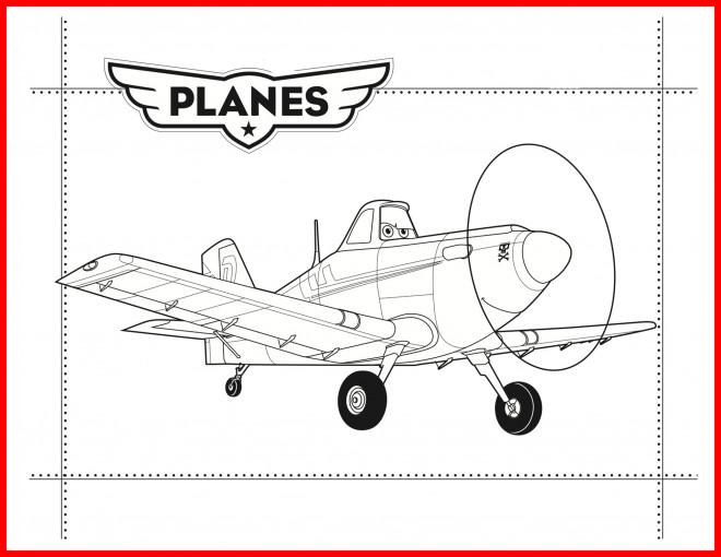 Coloriage et dessins gratuits Planes Dusty  magnifique à imprimer