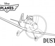 Coloriage Planes Dusty Pixar