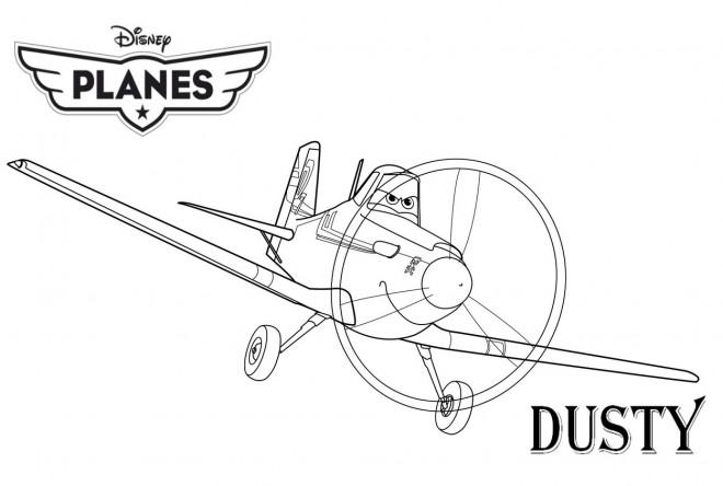 Coloriage planes dusty pixar dessin gratuit imprimer - Planes coloriage ...