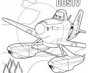 Coloriage Planes Dusty Pixar dessin animé