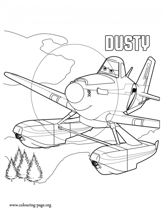 Coloriage et dessins gratuits Planes Dusty Pixar dessin animé à imprimer