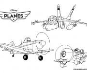 Coloriage Planes Dusty Série pour enfant