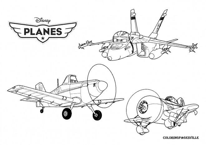Coloriage Planes Dusty Série Pour Enfant Dessin Gratuit à Imprimer