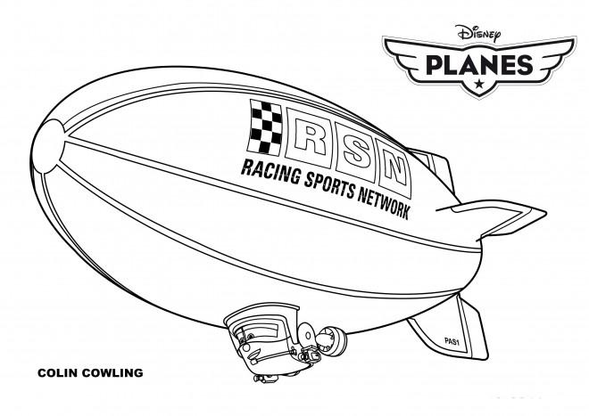 Coloriage et dessins gratuits Planes Dusty simple à imprimer