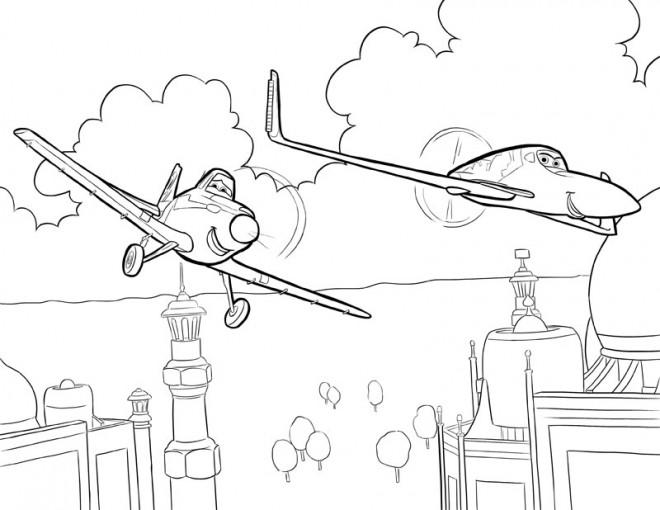 Coloriage Planes Dusty Vectoriel Dessin Gratuit à Imprimer