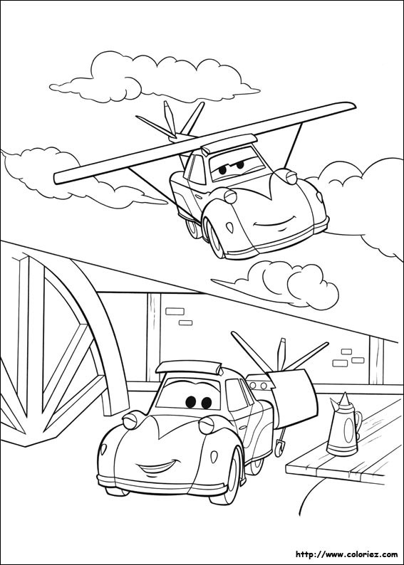 Coloriage et dessins gratuits Planes Dusty voiture Volante à imprimer