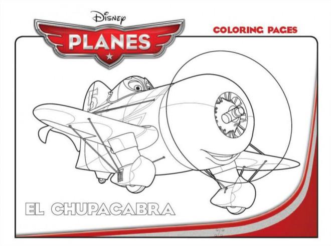 Coloriage et dessins gratuits Planes El Chupacabra Pixar à imprimer