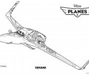 Coloriage Planes Ishani Pixar