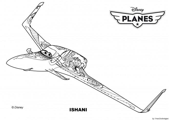 Coloriage et dessins gratuits Planes Ishani Pixar à imprimer