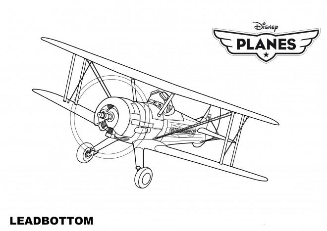 Coloriage et dessins gratuits Planes Leadbottom Pixar à imprimer