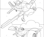 Coloriage dessin  Planes Pixar 13