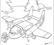 Coloriage dessin  Planes Pixar 6