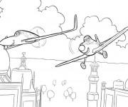 Coloriage dessin  Planes Pixar 9
