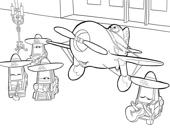 Coloriage et dessins gratuits Planes Pixar en couleur à imprimer