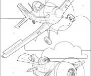 Coloriage et dessins gratuit Planes Pixar sur Ordinateur à imprimer