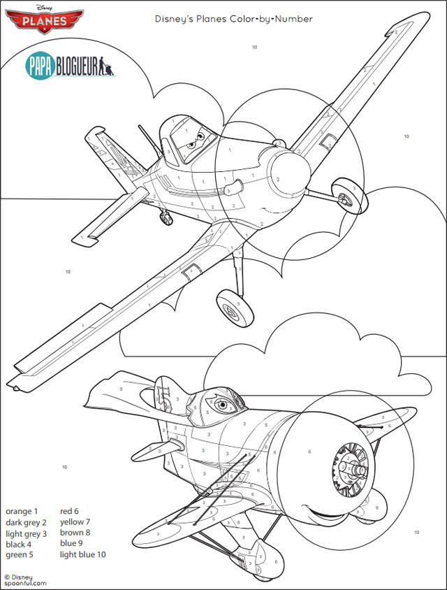 Coloriage et dessins gratuits Planes Pixar sur Ordinateur à imprimer