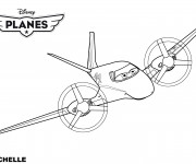 Coloriage et dessins gratuit Planes Rochelle Pixar à imprimer