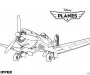 Coloriage Planes Skipper Pixar