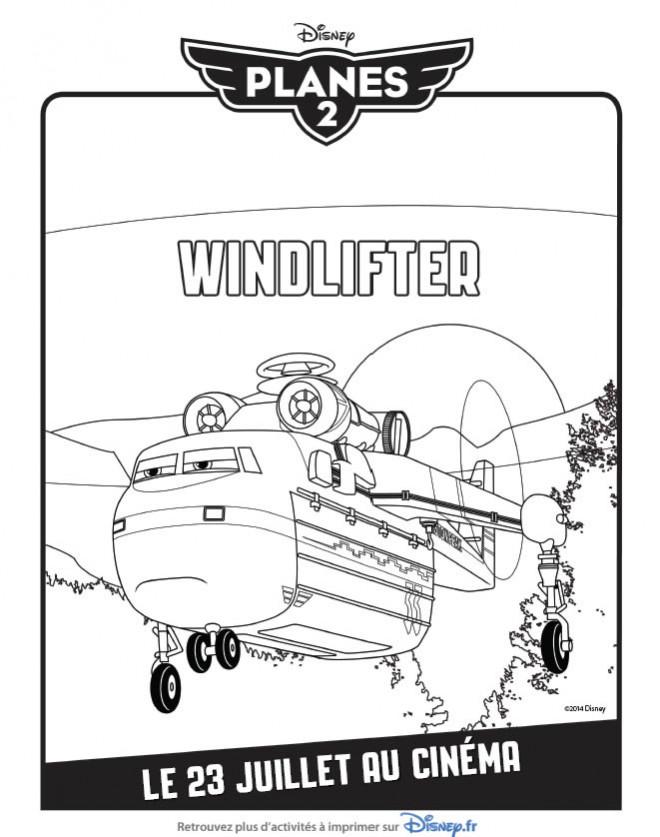 Coloriage et dessins gratuits Planes Windlifter Pixar à imprimer