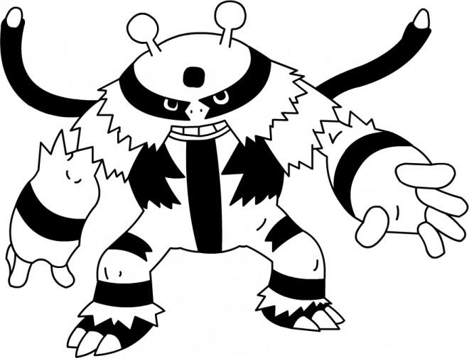 Coloriage et dessins gratuits Cart Pokémon Ex à imprimer
