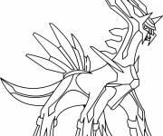 Coloriage et dessins gratuit Dialga le Pokémon à imprimer