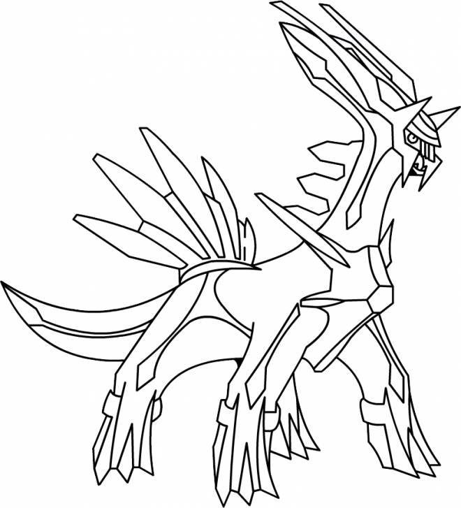 Coloriage et dessins gratuits Dialga le Pokémon à imprimer