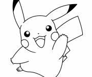 Coloriage et dessins gratuit Pikachu le Pokemon à imprimer