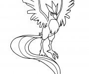 Coloriage et dessins gratuit Pokémon Articuno à imprimer