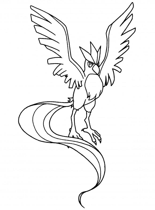 Coloriage et dessins gratuits Pokémon Articuno à imprimer