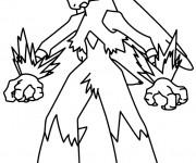 Coloriage et dessins gratuit Pokémon Blaziken à imprimer