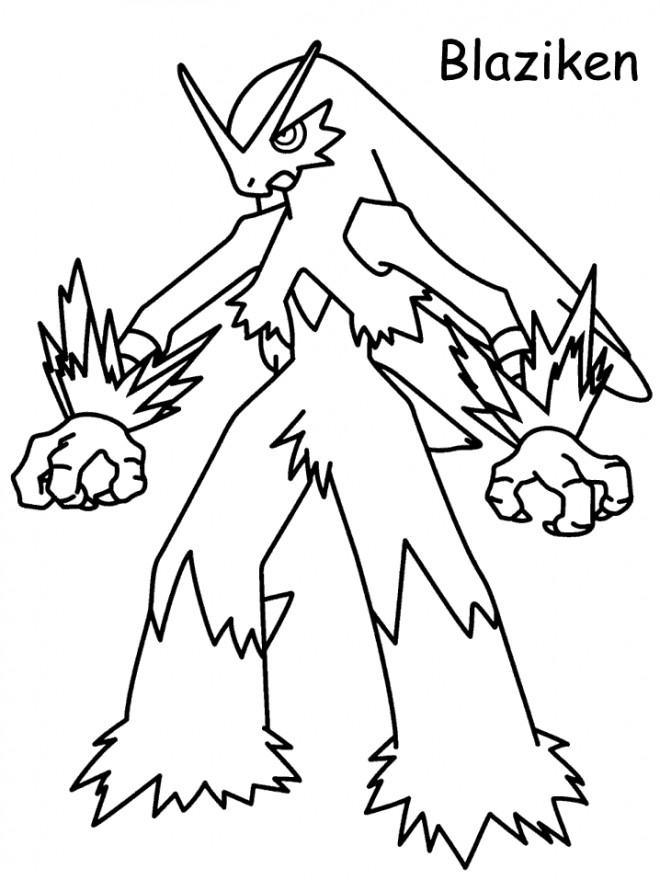 Coloriage et dessins gratuits Pokémon Blaziken à imprimer