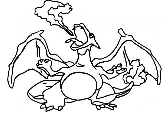 Coloriage et dessins gratuits Pokémon Charizard à imprimer