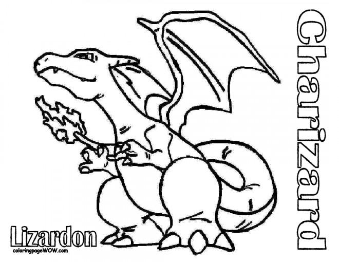 Coloriage et dessins gratuits Pokémon Charizard Ex à imprimer