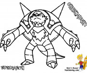 Coloriage Pokémon Chesnaught