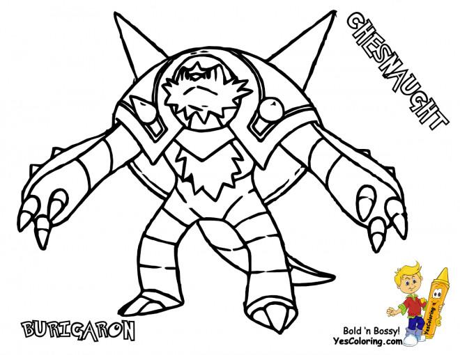 Coloriage et dessins gratuits Pokémon Chesnaught à imprimer
