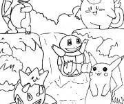Coloriage et dessins gratuit Pokémon dessin animé à imprimer