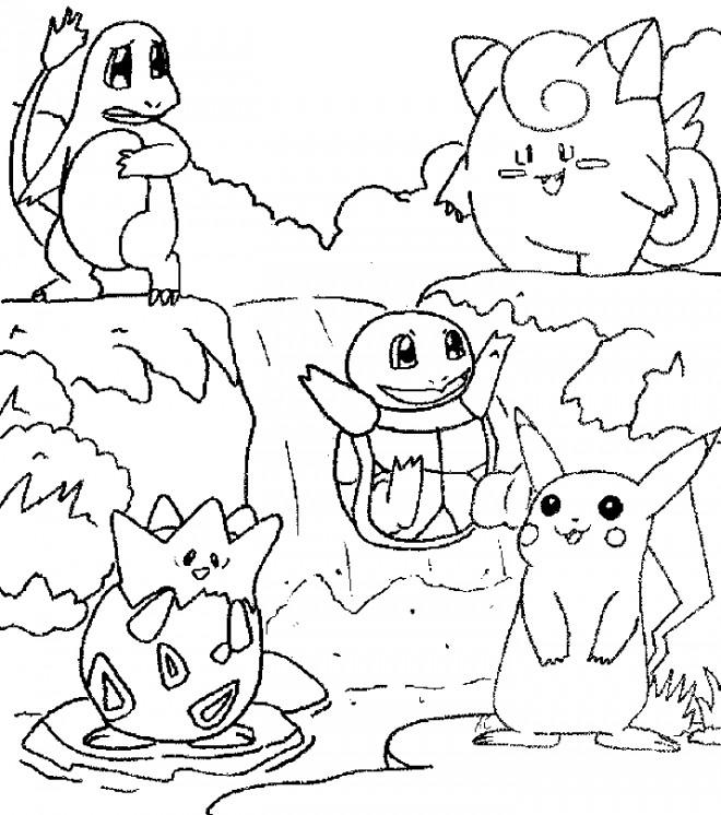 Coloriage et dessins gratuits Pokémon dessin animé à imprimer