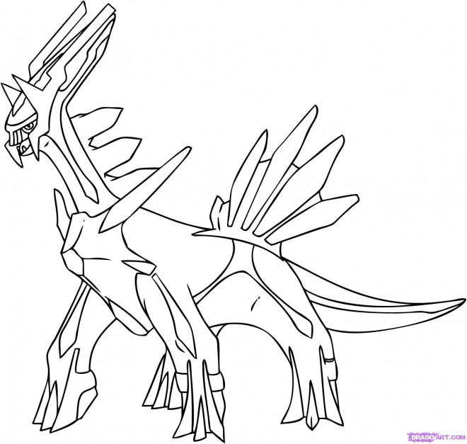 Coloriage et dessins gratuits Pokémon Dialga à imprimer