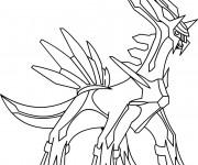 Coloriage Pokémon Dialga