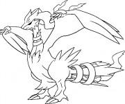 Coloriage Pokémon Dragon Reshiram dessin