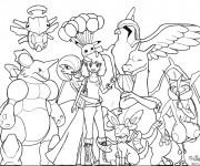 Coloriage dessin  Pokemon Ex 1