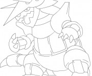 Coloriage dessin  Pokemon Ex 4